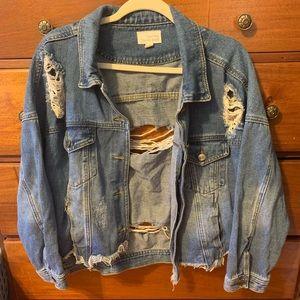 super distressed jean jacket